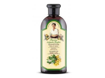 Agafja šampon med a lípa pro všechny typy vlasů, 350ml