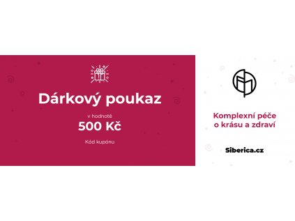 darkový poukaz Siberica 500