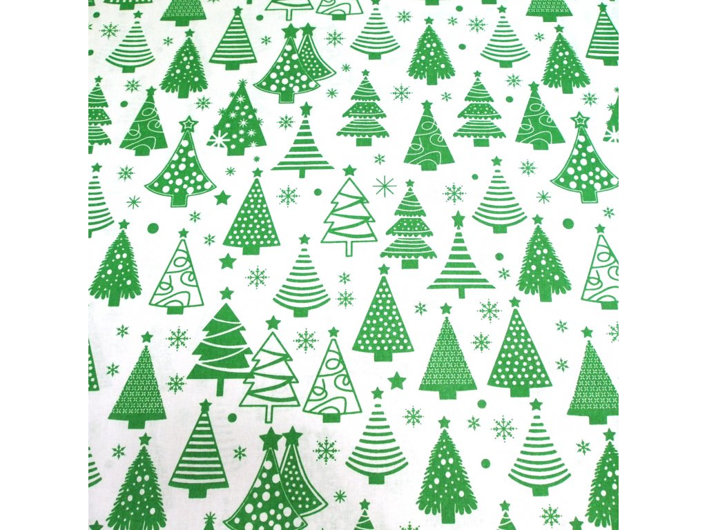 4436 vanocni latka zelene stromky