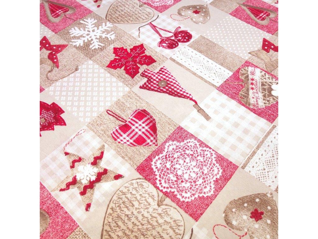 4487 vanocni latka patchwork