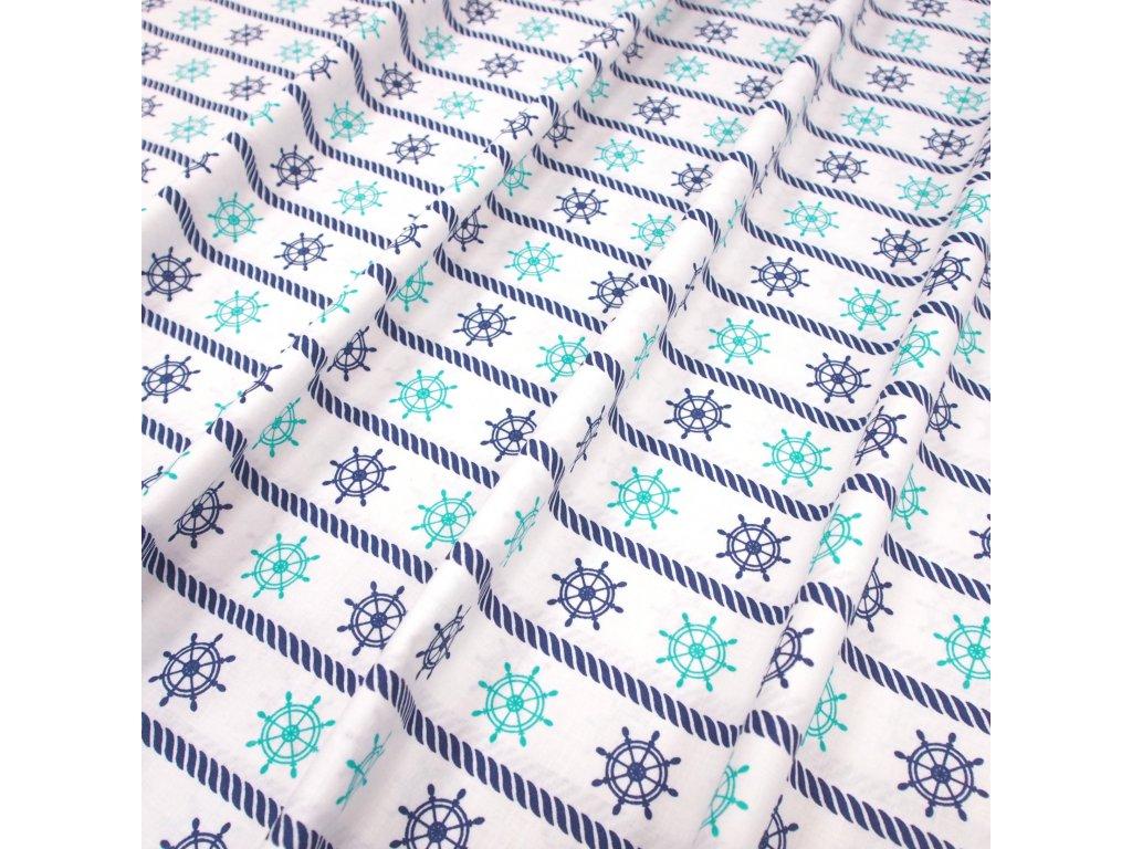 4670 bavlnena latka namornicka modre kormidlo