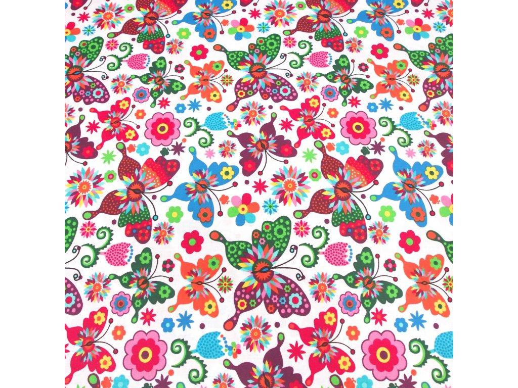 4784 dekoracni latka barevni motylci