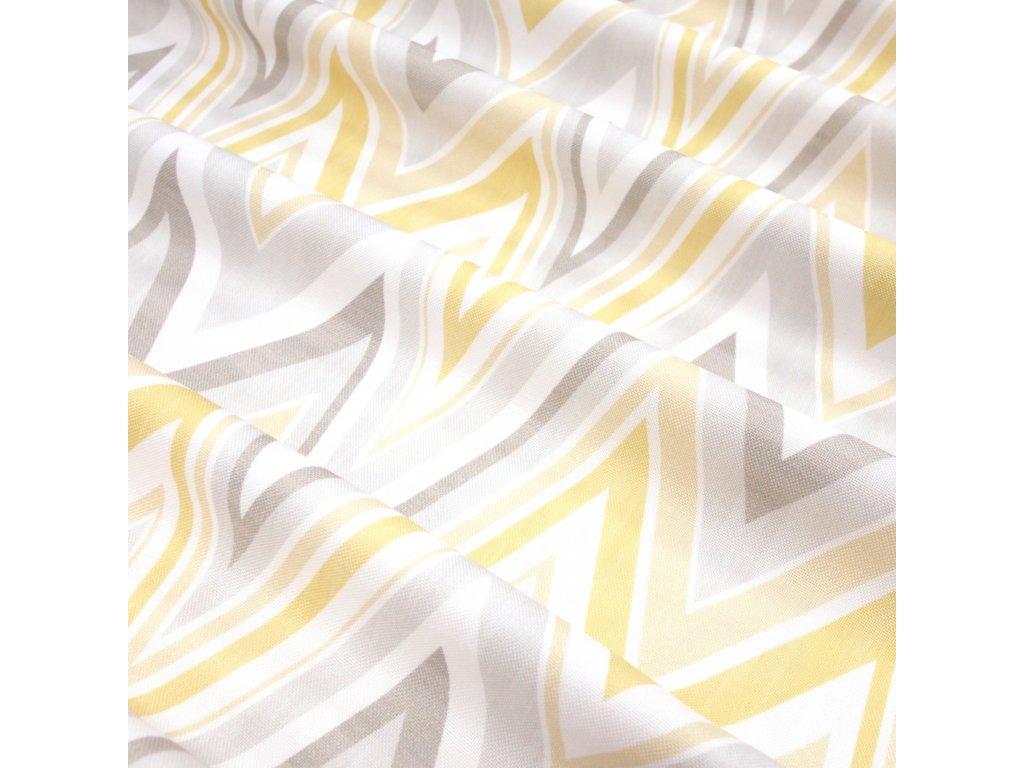 4958 dekoracni latka zluty sevron