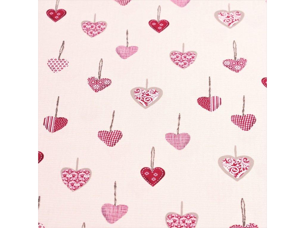 5000 dekoracni latka cervena srdce