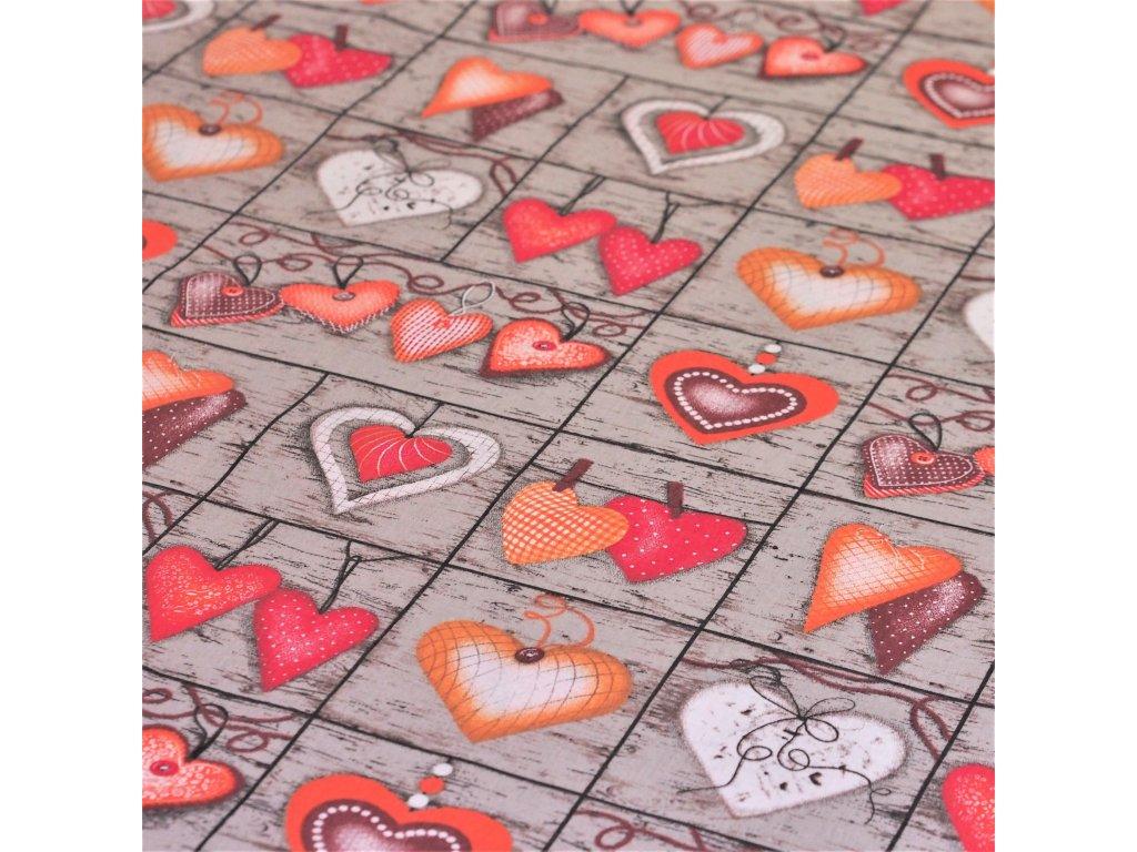 5003 dekoracni latka oranzova srdicka