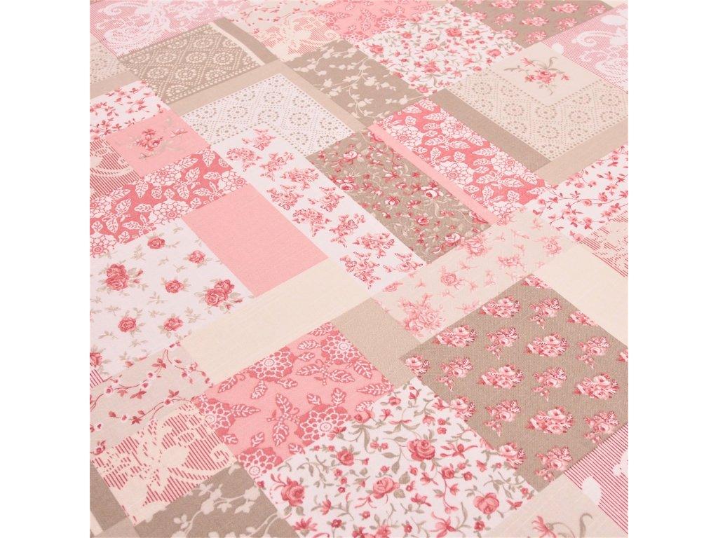 5006 dekoracni latka patchwork ruze