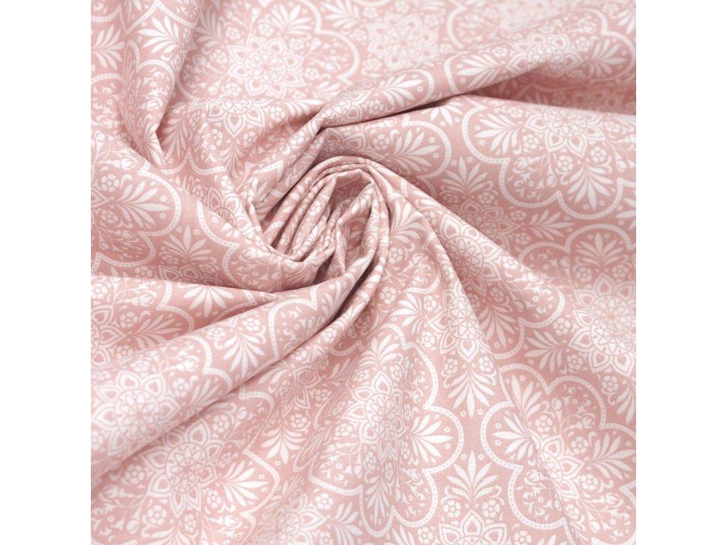 5009 dekoracni latka ruzove mandaly