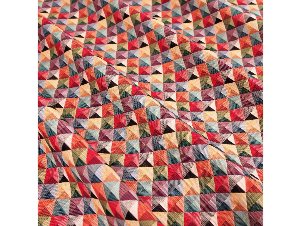 5192 potahova latka barevne trojuhelniky