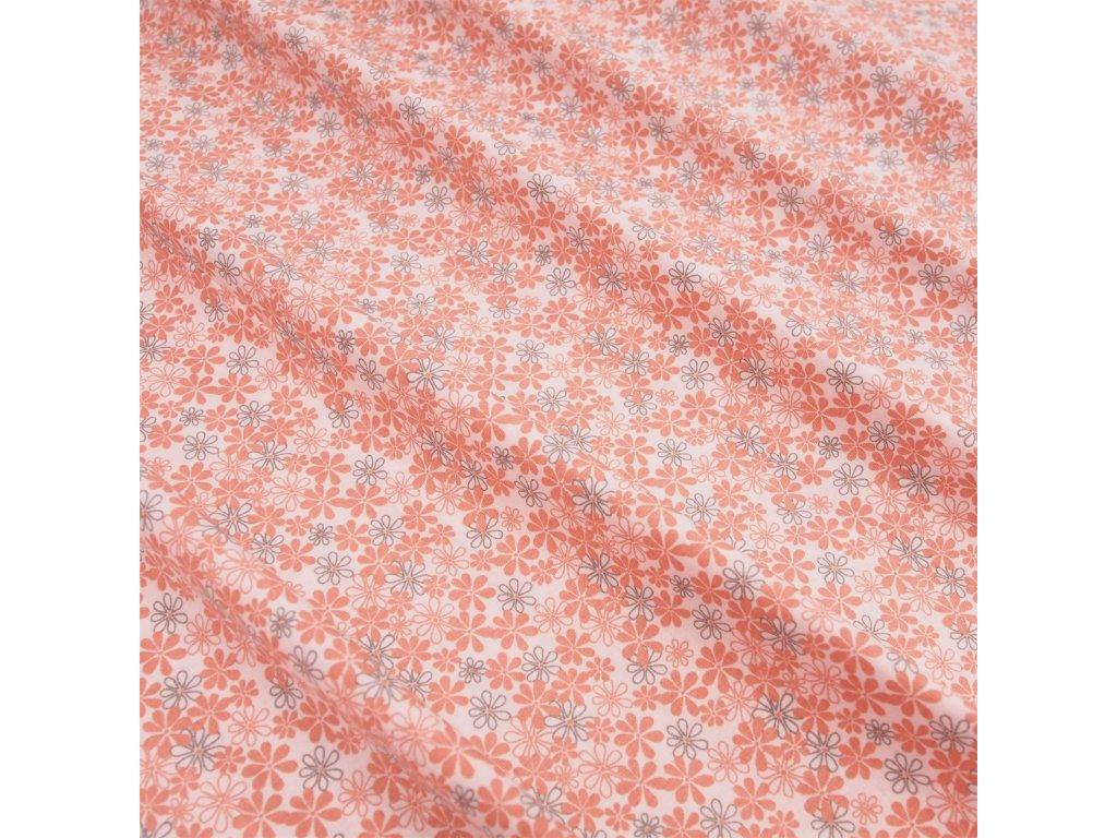 5528 dekoracni latka lososova kyticka
