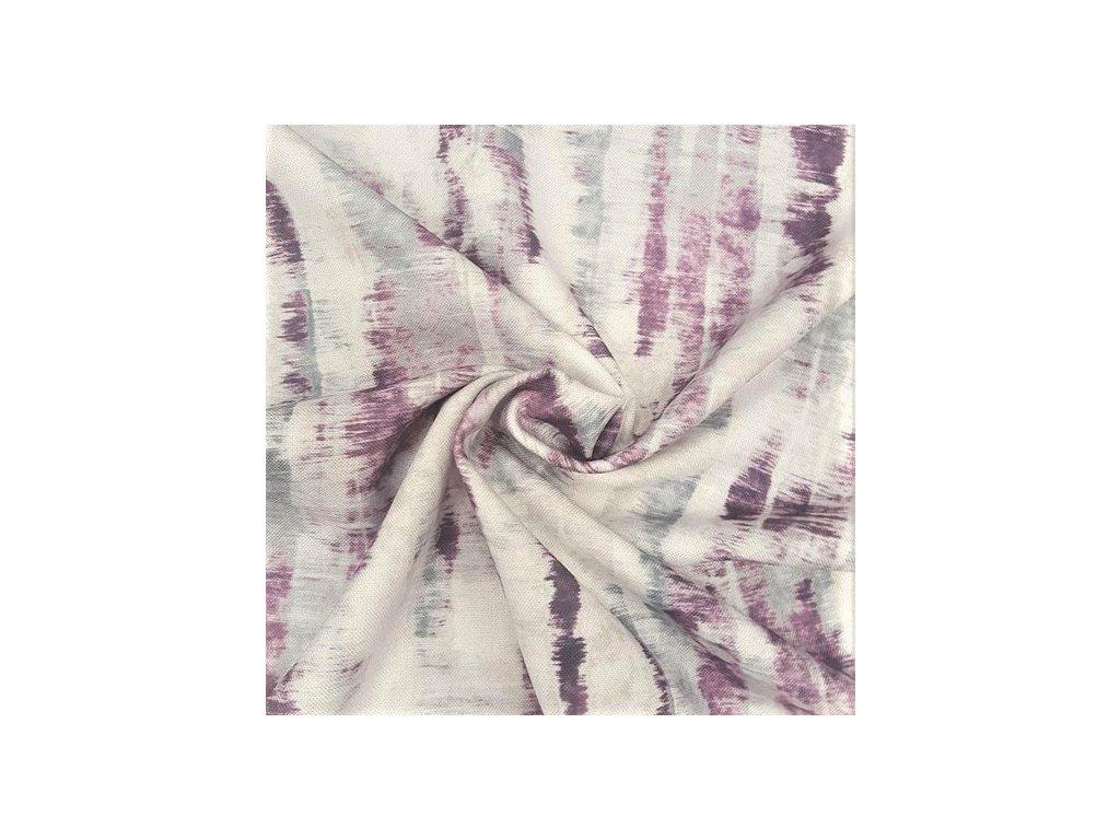 5552 dekoracni latka fialovy vzor