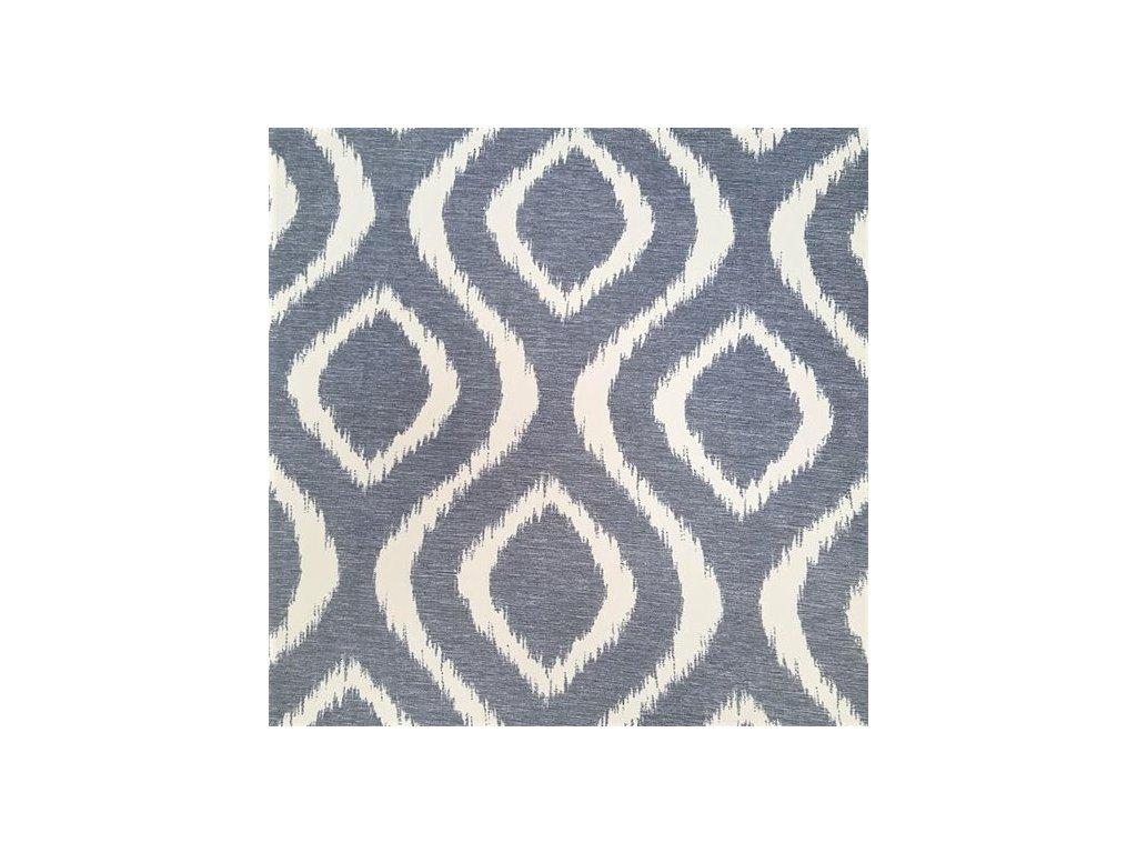 5570 dekoracni latka dimout modry vzor
