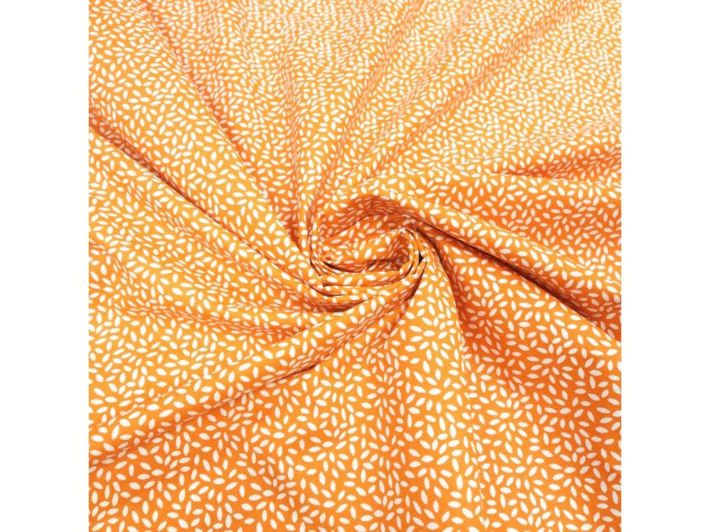 5789 dekoracni latka oranzove listecky