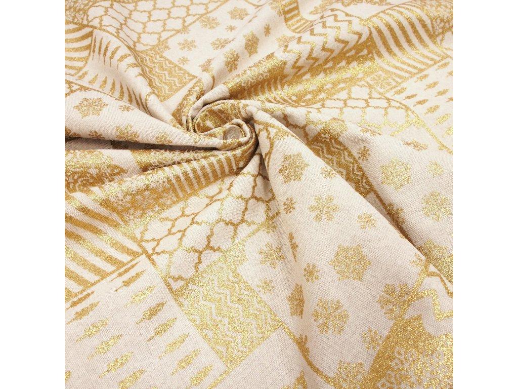 5990 vanocni latka rezna zlaty patchwork