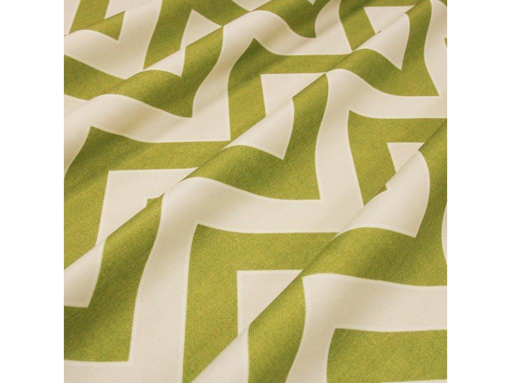 6071 dekoracni latka zeleny geometricky vzor