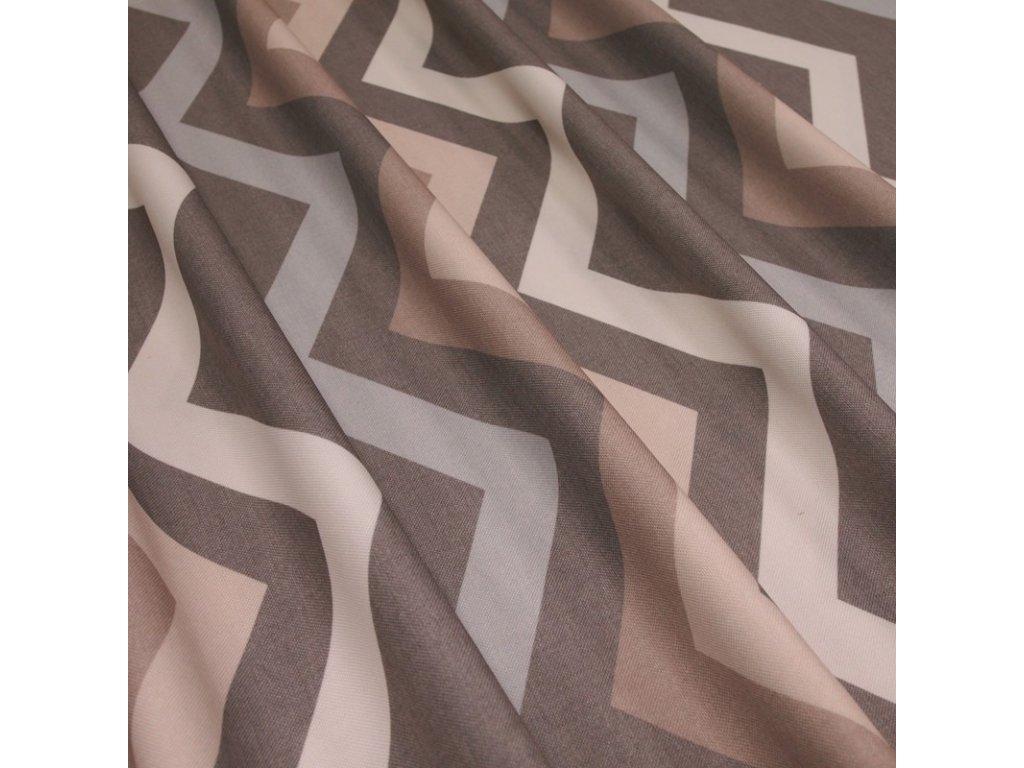 6086 dekoracni latka bezovy geometricky vzor