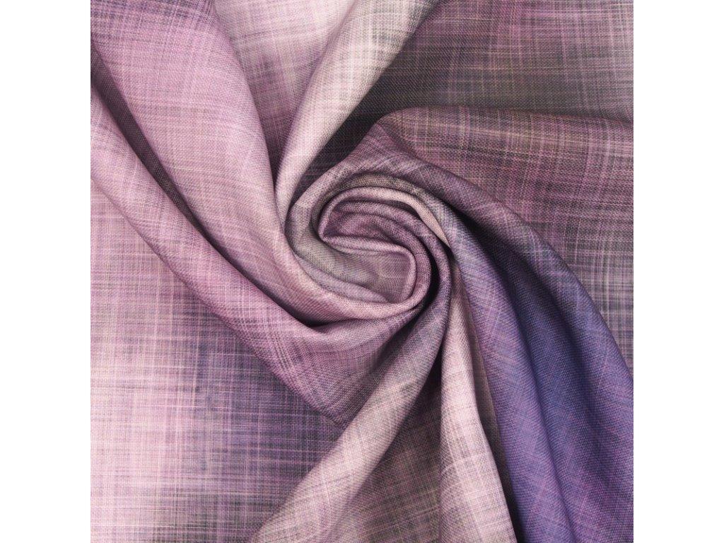 6101 dekoracni latka fialova batika