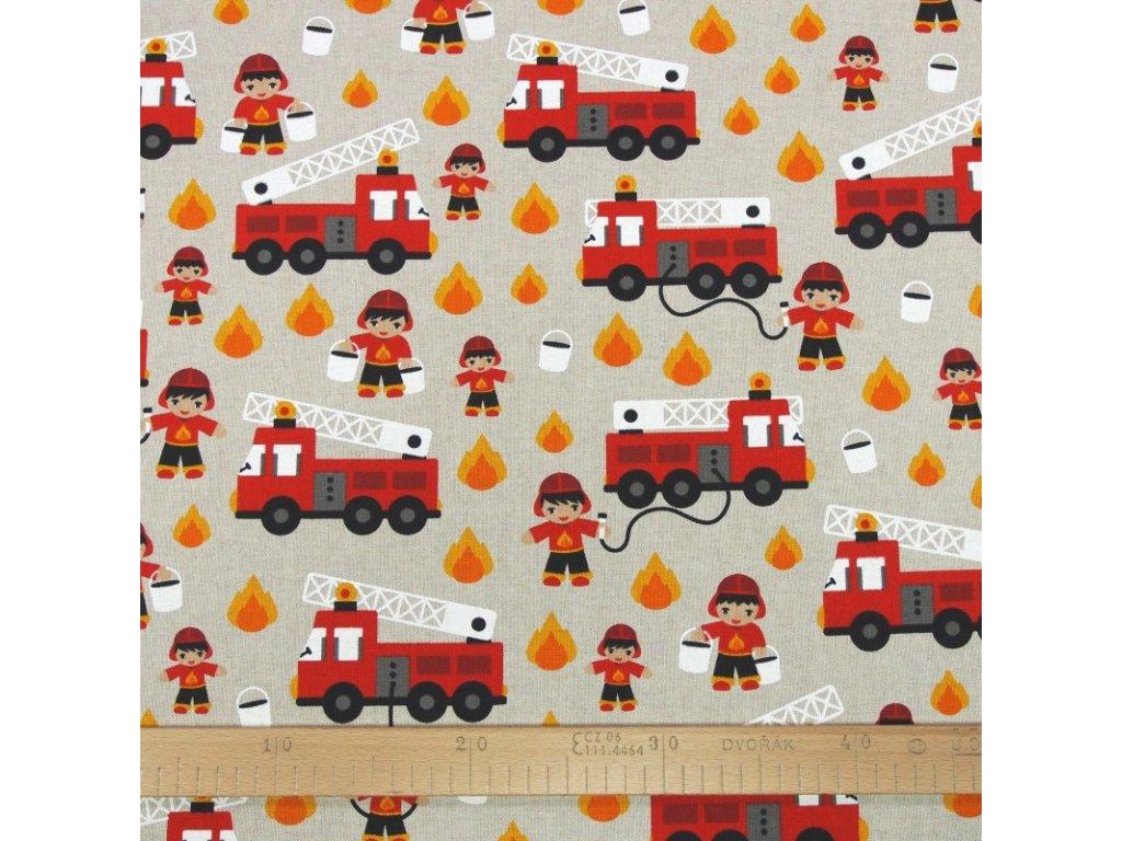6275 dekoracni latka hasicske auto