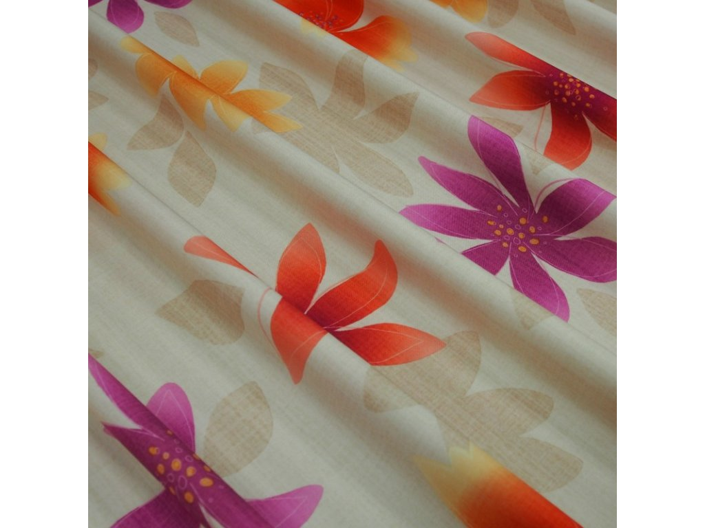 6440 dekoracni latka fialove kytky