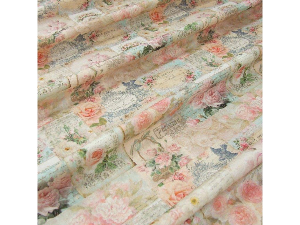 6452 dekoracni latka vintage ruze ruzove