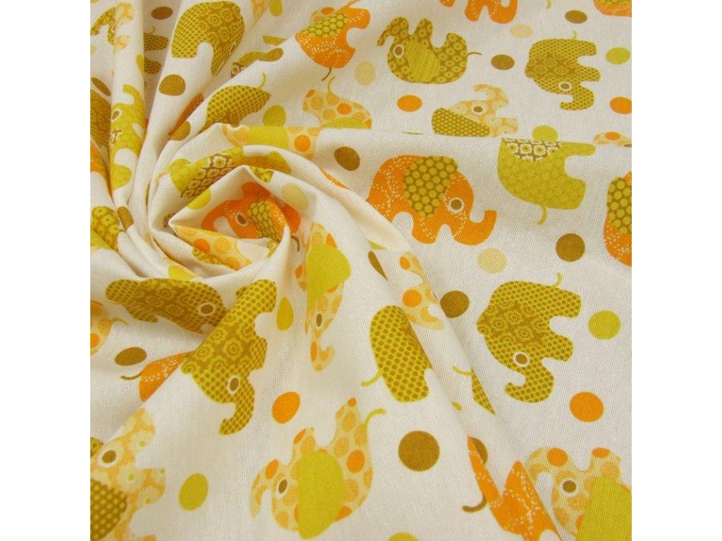 6536 dekoracni latka zluty slon