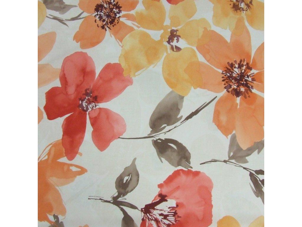 6605 dekoracni latka velke barevne kvety