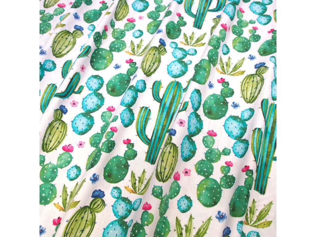 bavlněná látka kaktus (2)