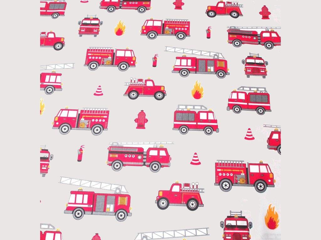 bavlněná látka hasičská auta (2)