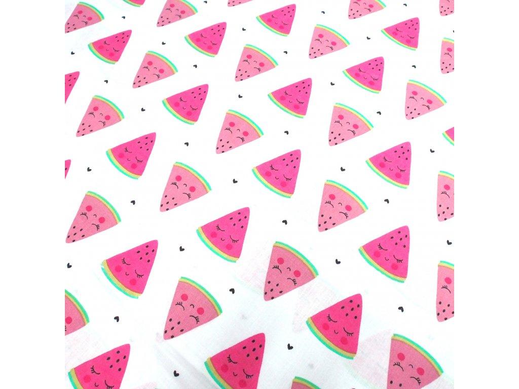bavlněná látka melouny