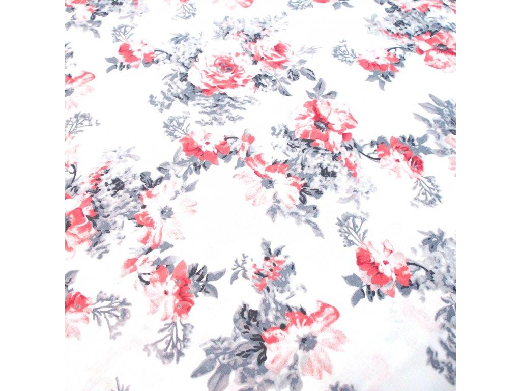 bavlněná látka květy (2)
