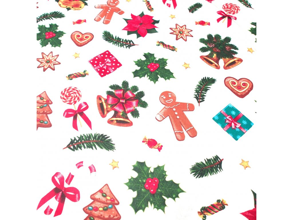 vánoční látka perníčky