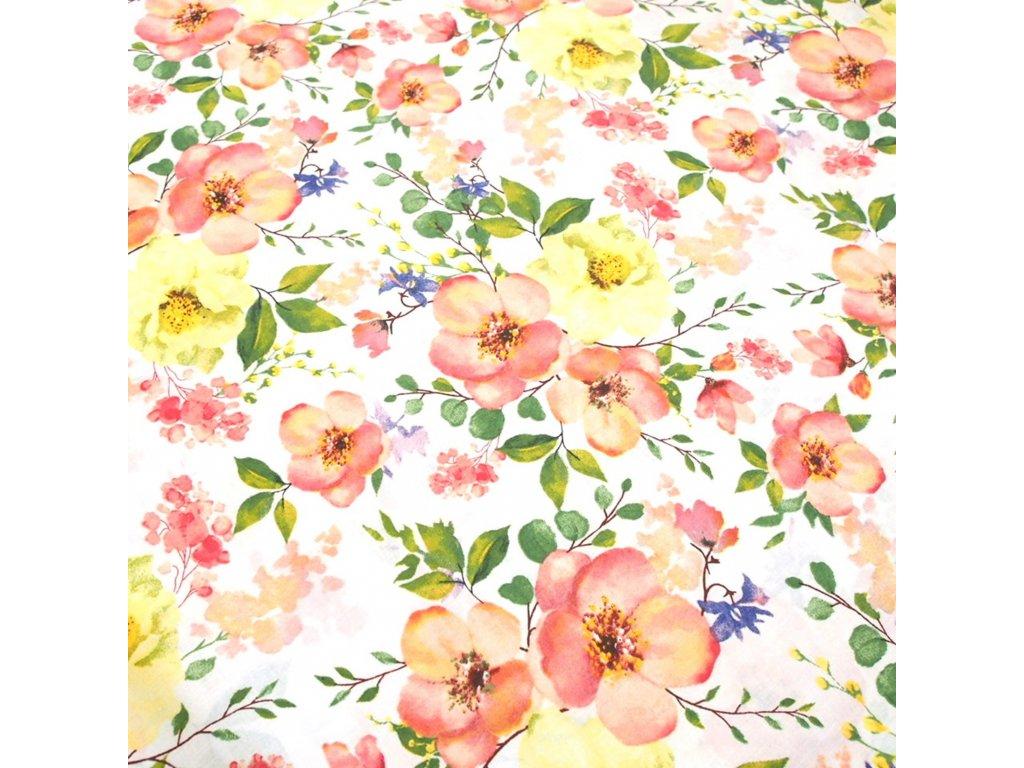 bavlněná látka barevné růžičky (4)