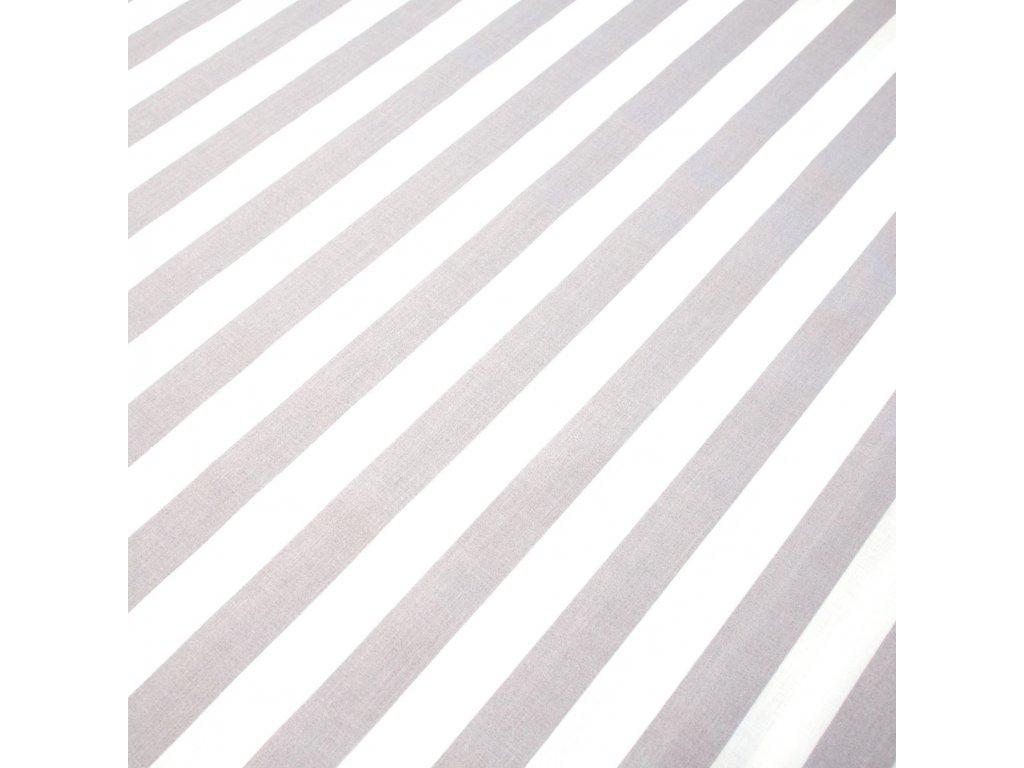 bavlněná látka šedý proužek