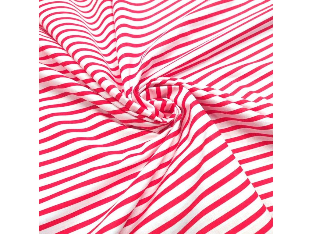 bavlněná látka červený proužek (3)