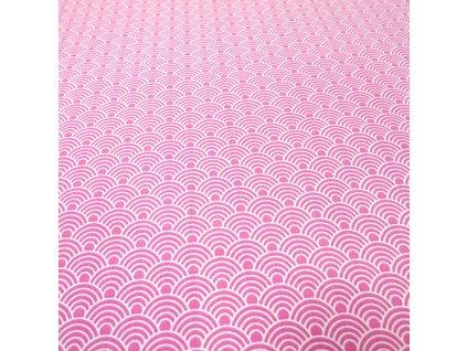4643 bavlnena latka ruzova male vlnky 2