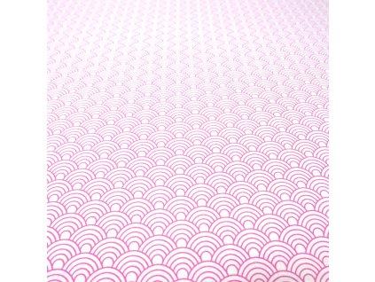 4646 bavlnena latka ruzova male vlnky