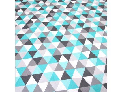 4832 dekoracni latka tyrkysove trojuhelniky