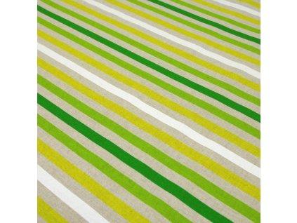 6224 dekoracni latka zeleny prouzek