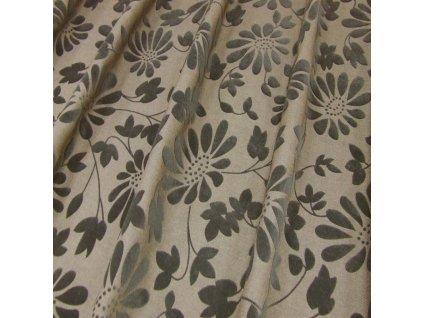 6638 dekoracni latka hnede sametove kvety