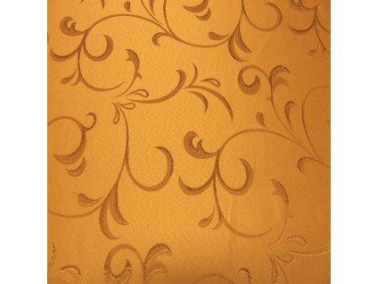 6758 zlata jednobarevna vytlacovany vzor dekoracni latka