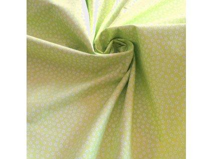 bavlněná látka zelené kytičky