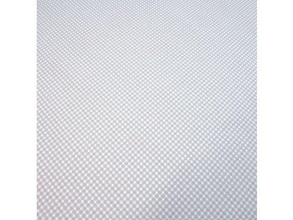 bavlněná látka šedé kostičky
