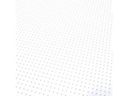 bavlněná látka šedé puntíky na bílé
