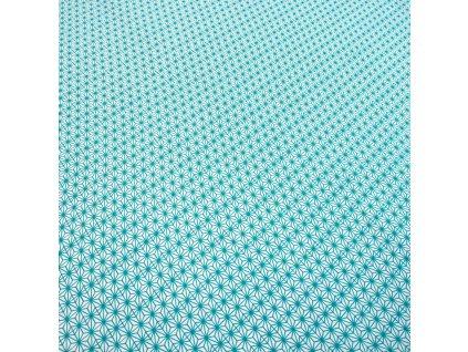 bavlněná látka tyrkys vzor