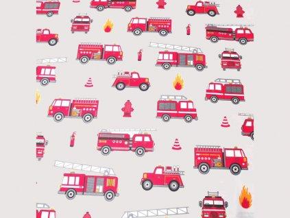 bavlněná látka hasičská auta (3)