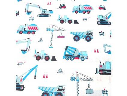 bavlněná látka stavební stroje