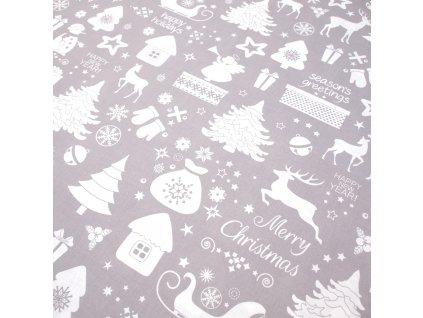 vánoční látka vánoce v lese 1