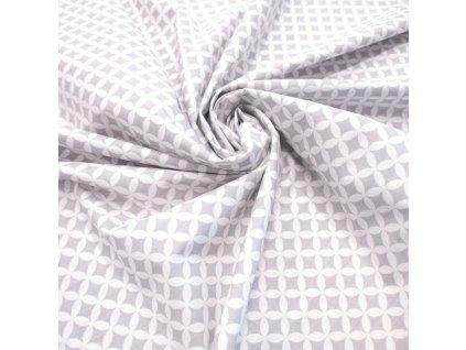 bavlněná látka šedá mandala (3)