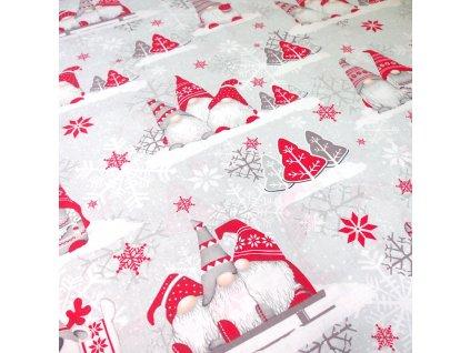 vánoční látka skřítci (3)