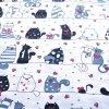 bavlněná látka kočky
