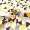 bavlněná látka žluté trojúhelníky (3)